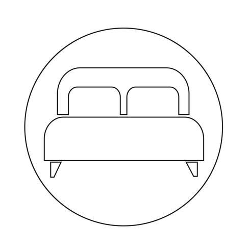 icône de lit double vecteur