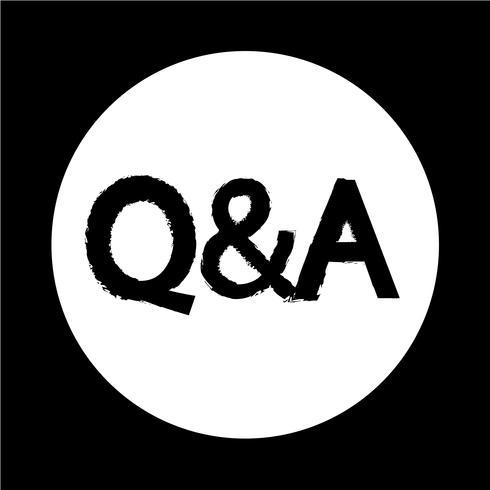 question réponse icone vecteur