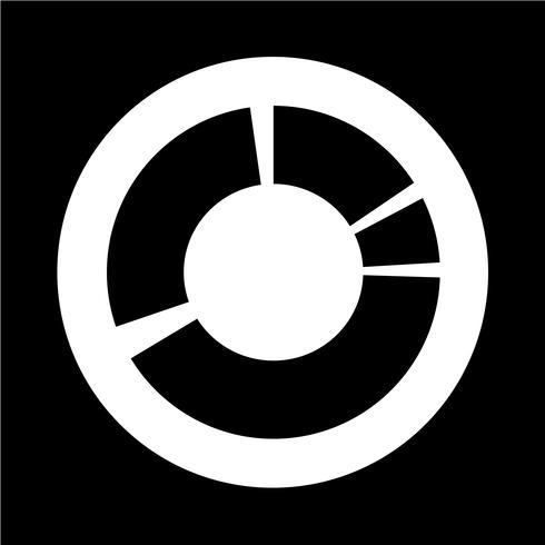 Icône de graphique de diagramme simple vecteur