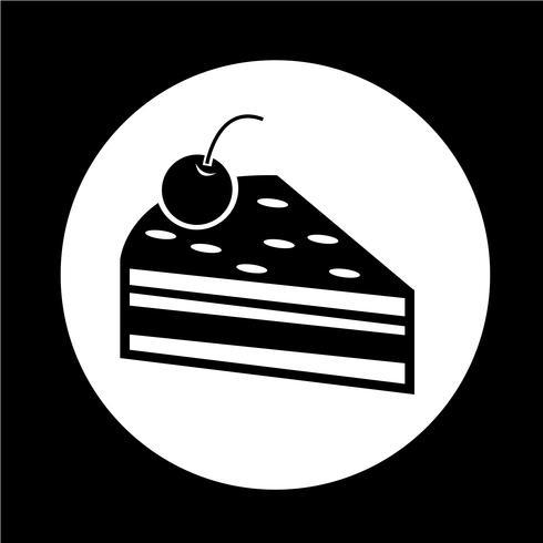 Icône de pièce de gâteau vecteur