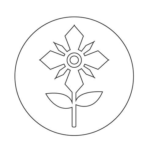 Icône de la fleur vecteur
