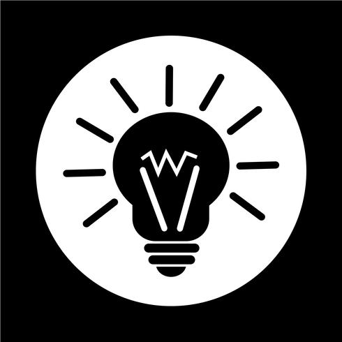 icône idée lumineuse vecteur