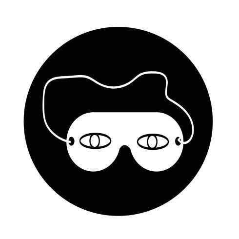 icône de masque de sommeil vecteur