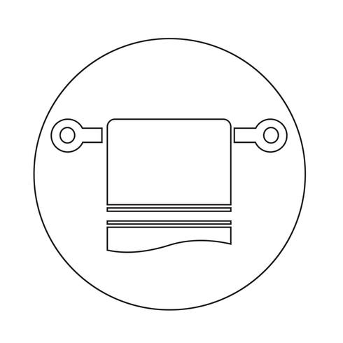 icône de serviette vecteur