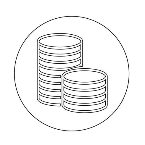 icône d'argent vecteur