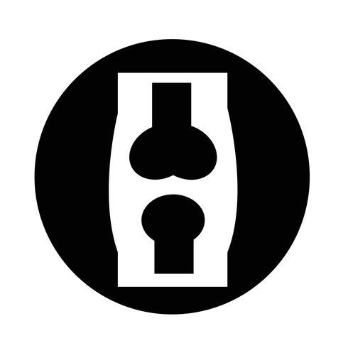 icône en os vecteur