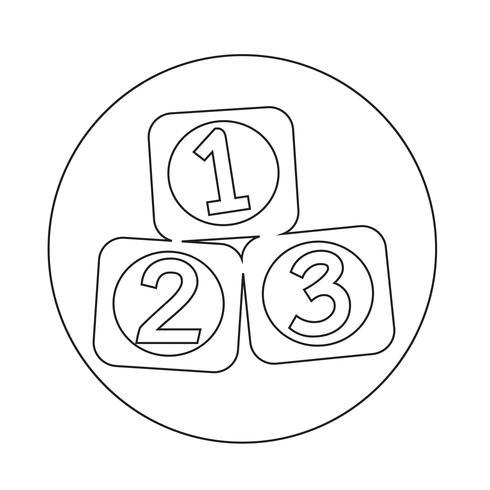 Icône 123 Blocs vecteur
