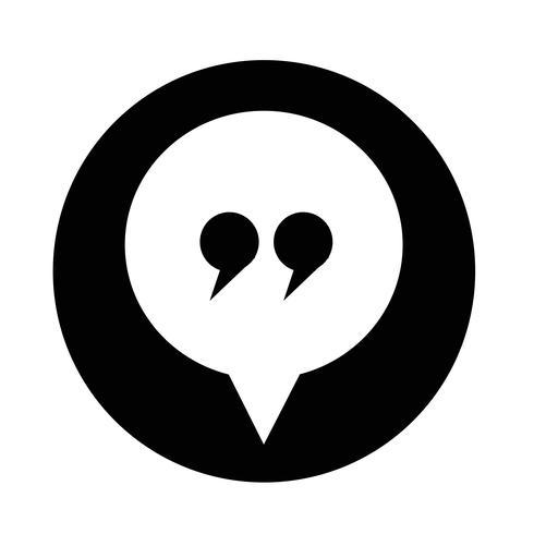 icône de dialogue vecteur