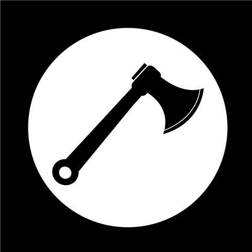icône de la hache vecteur