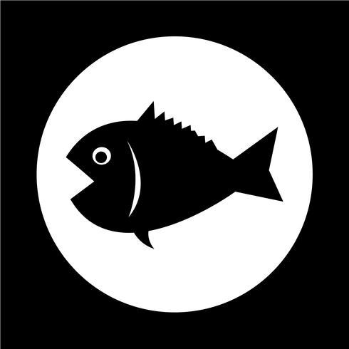 Icône de pêche vecteur