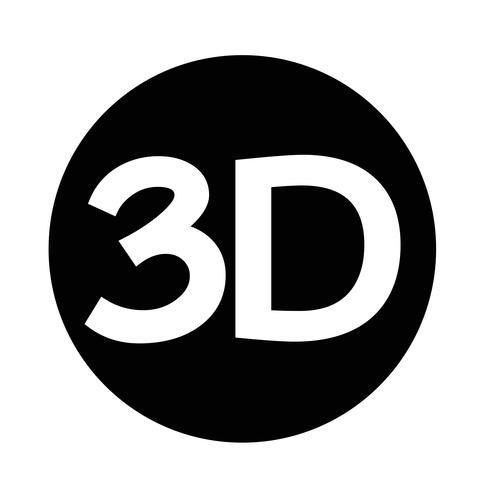Icône 3d vecteur