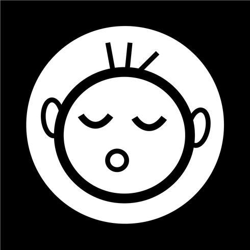icône d'enfant heureux vecteur
