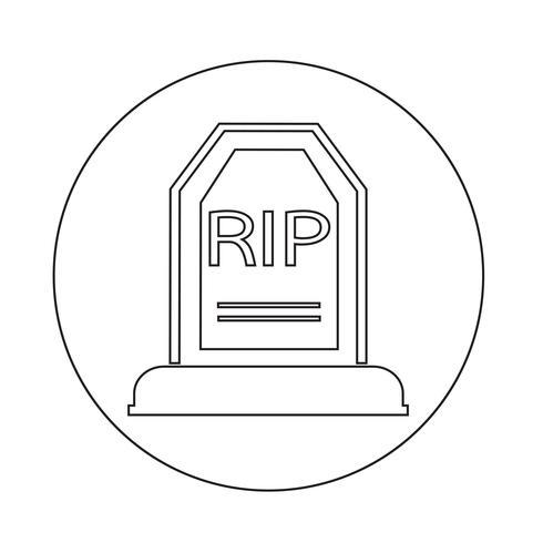 Icône de la tombe vecteur