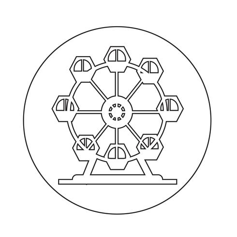 Icône de la grande roue vecteur