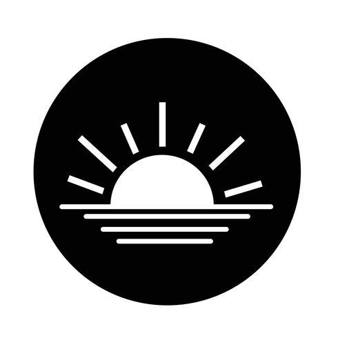 lever du soleil icône du coucher du soleil vecteur