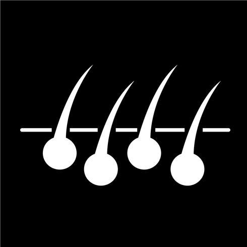 Signe de l'icône de cheveux vecteur