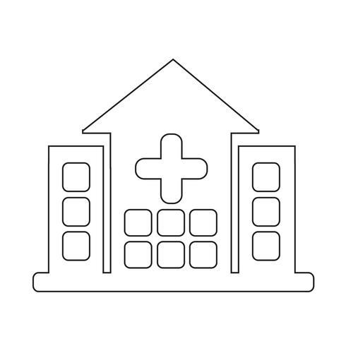Icône de signe d'hôpital vecteur