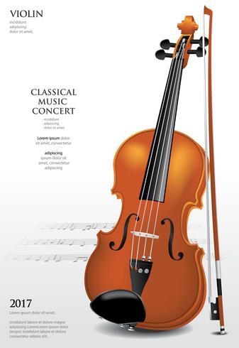 Illustration vectorielle de musique classique concept violon vecteur