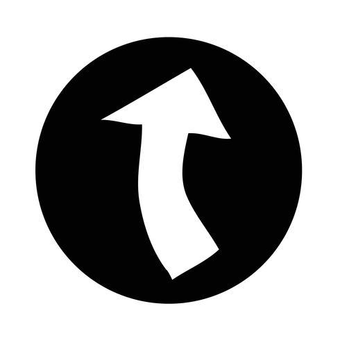 Signe de l'icône de la flèche vecteur