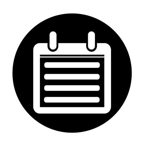 Icône de signe de calendrier vecteur