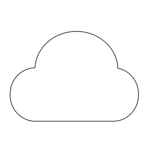 Icône de signe de nuage vecteur