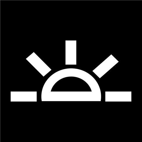 Signe du soleil icône vecteur