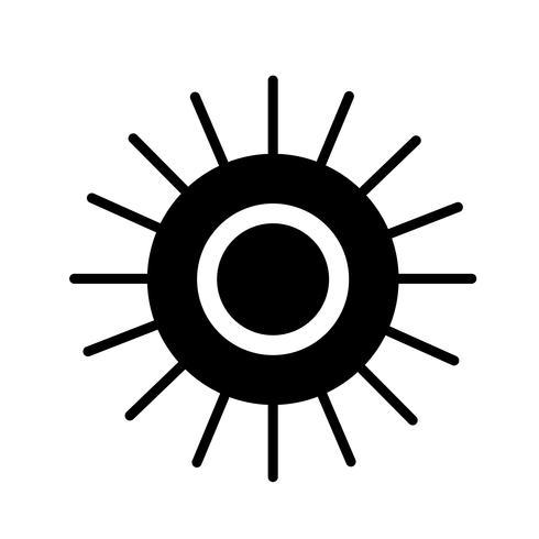 Icône de signe du soleil vecteur