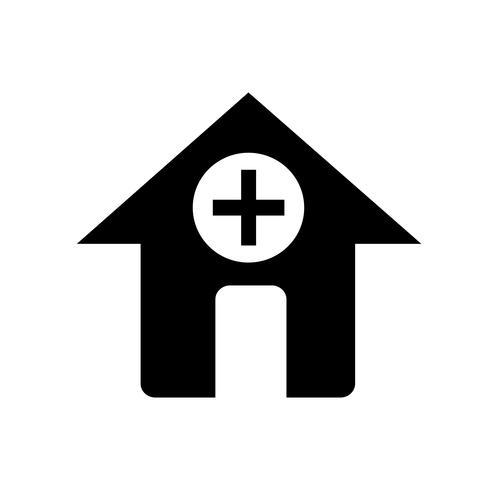 signe de l'icône de l'hôpital vecteur
