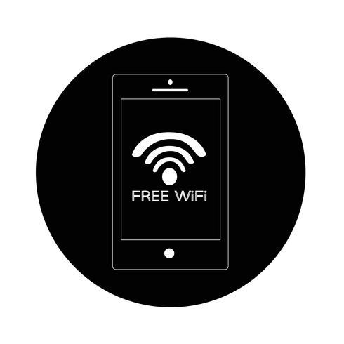 Signe de l'icône wifi vecteur