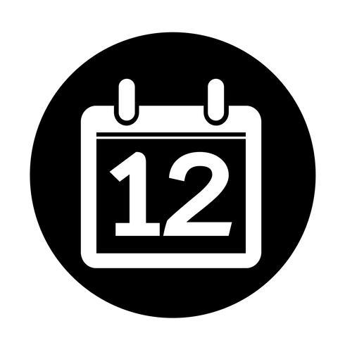 signe de l'icône de calendrier vecteur