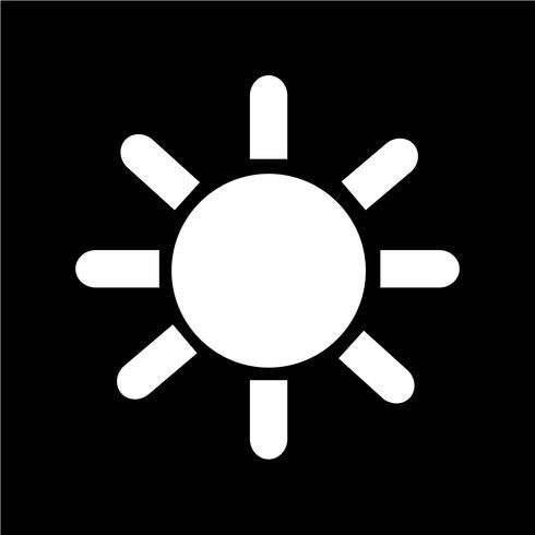 signe de l'icône du soleil vecteur