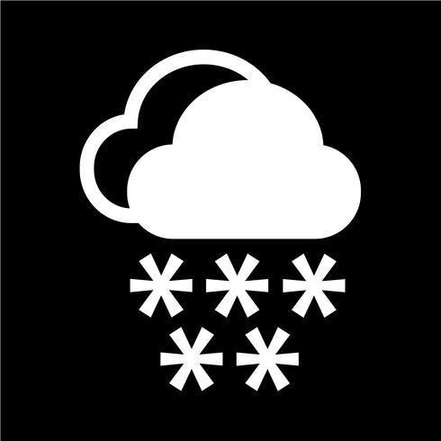 Icône de pluie nuageuse vecteur