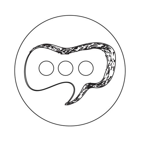 Icône de la bulle de dialogue vecteur