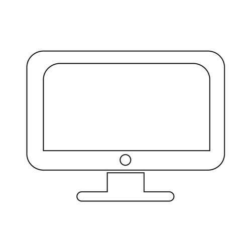 Icône d'ordinateur de bureau vecteur