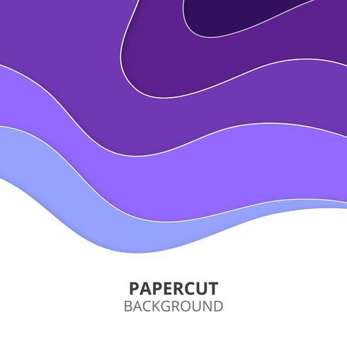 Papier violet coupé de fond vecteur