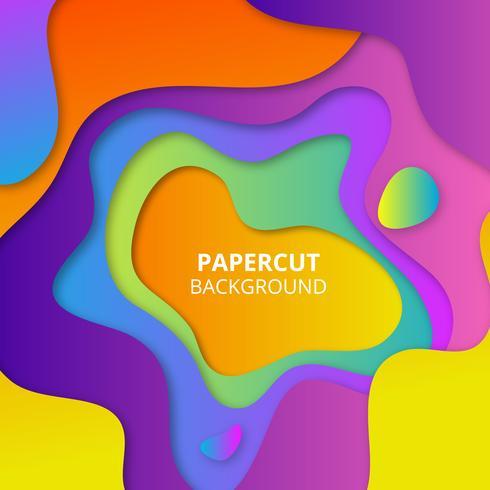 Fond de papier coloré vecteur