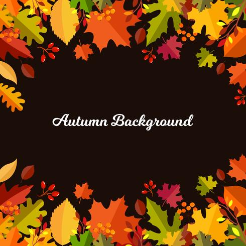 Fond d'automne avec des feuilles vecteur