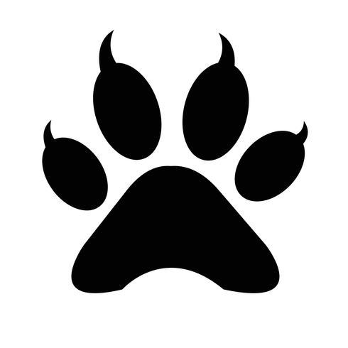 icône d'impression patte animal vecteur