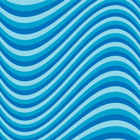 Rayure bleue ondulée vecteur