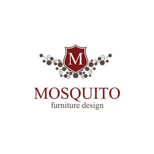 Création de logo de mobilier vecteur