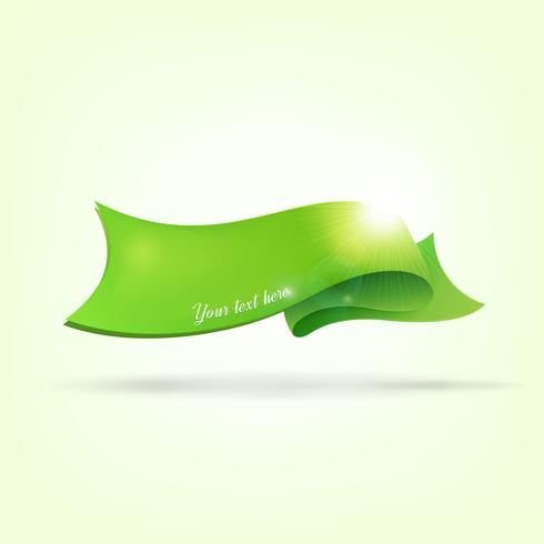 Abstrait avec ruban vert vecteur