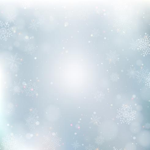 Abstrait Noël avec des flocons de neige. Fond d'hiver élégant vecteur