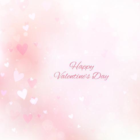 Fond Saint-Valentin avec des coeurs et bokeh vecteur