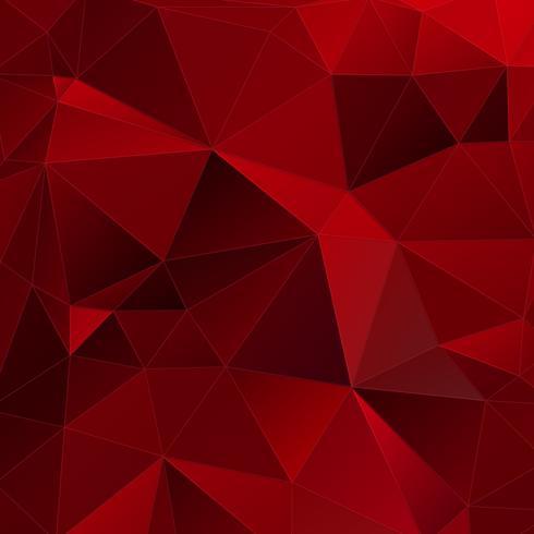 Fond géométrique rouge vecteur