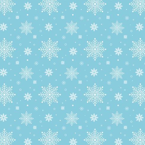 Motif de flocons de neige bleu. Motif de flocons de neige blanche sur fond bleu vecteur