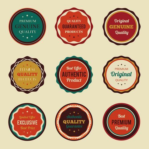Set de badges vintage rétro vecteur