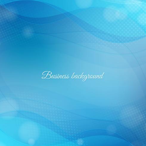 Fond de vagues bleues. Modèle d'affaires vague bleu abstrait vecteur