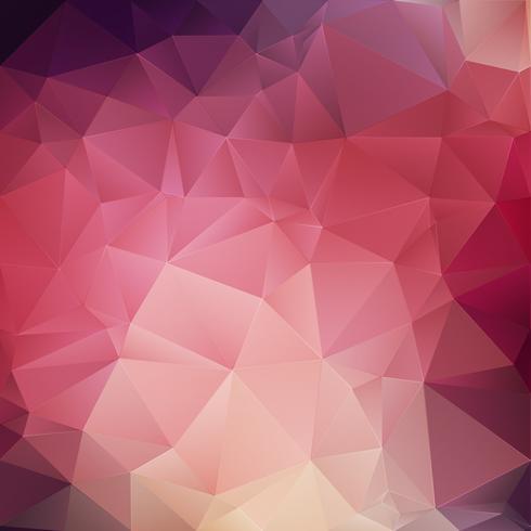 Fond géométrique en cristal rose vecteur
