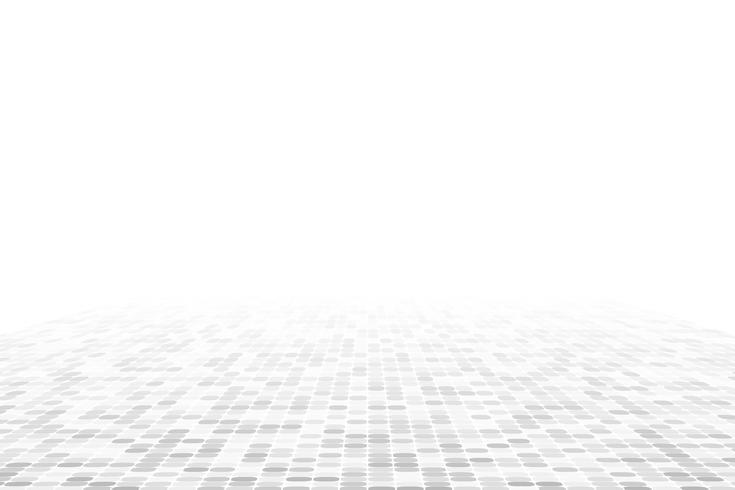 Fond de perspective géométrique blanc vecteur