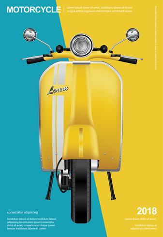 Moto Vintage isolée Illustration vectorielle vecteur